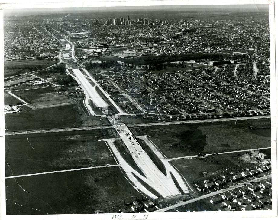 An aerial view of proposed Gulf Freeway Houston 1948. Photo: Robert L. Browning Photography