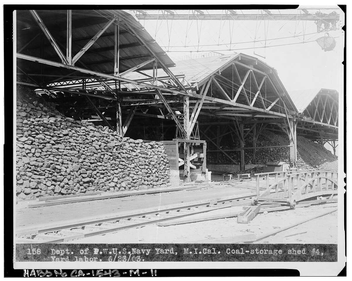 The Mare Island coal sheds circa 1900. (Courtesy Mare Island Brewing Co.)
