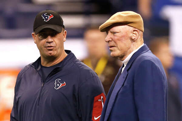 Following last week's playoff victory, Texans owner Bob McNair, right, responded to national media reports about coach Bill O'Brien's job security by saying he would return for the 2017 season.