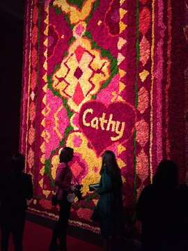 Flower tapestry at FOG Art + Design fair