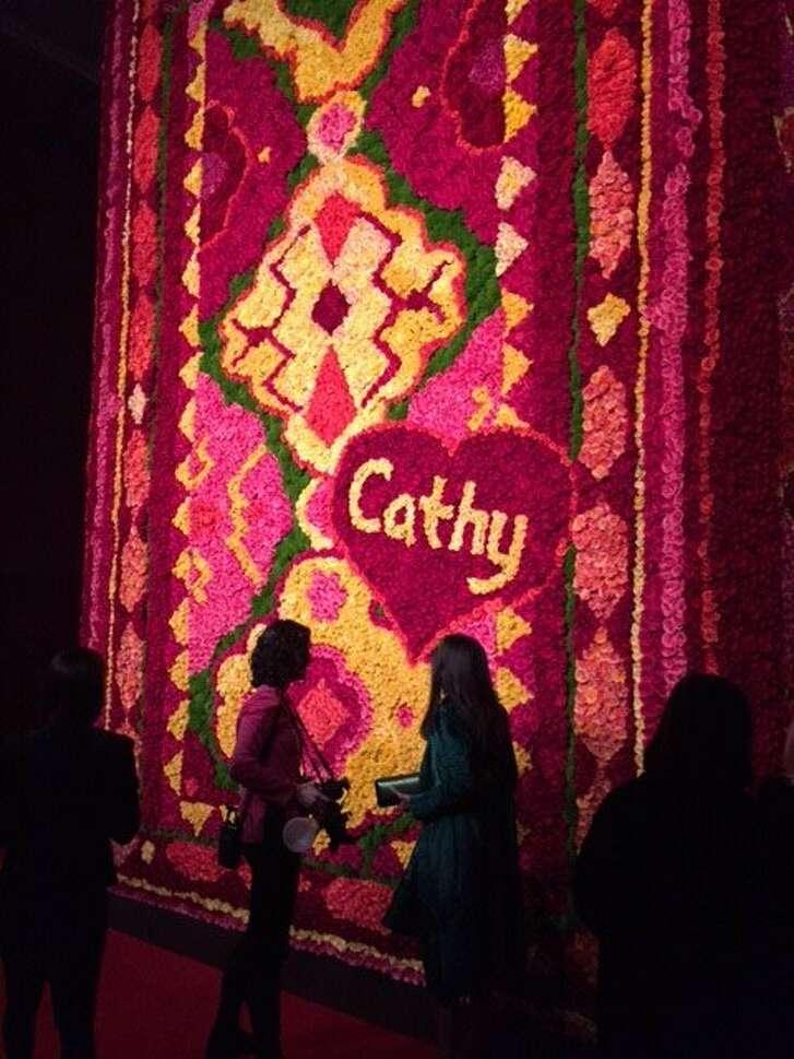 Flower tapestry at FOG Art + Design fair
