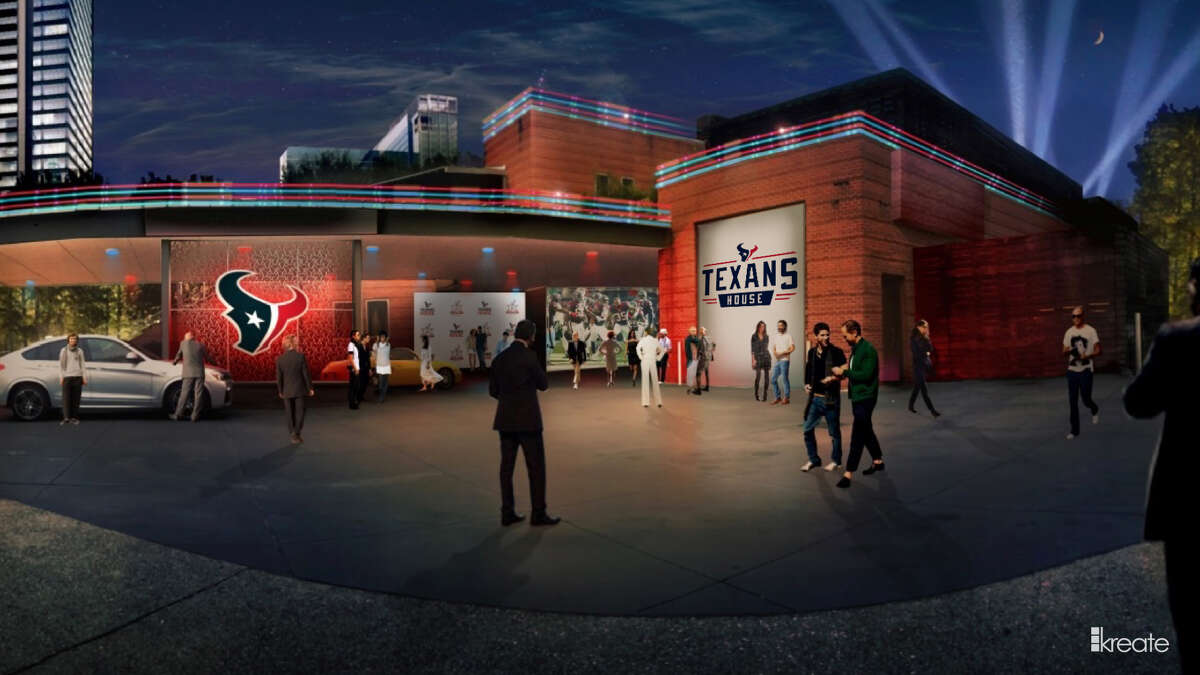 A rendering of the Texans House exterior.