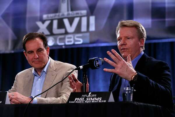 For the sake of keeping an audience, Jim Nantz, left, and Phil Simms are hoping the Texans put up more of a fight than the past two times they called the team's visits to New England.