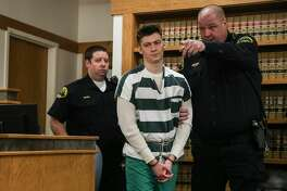 Allen Ivanov enters the courtroom to face a formal sentencing hearing Thursday morning, Jan. 12, 2017. In July, Ivanov shot and killed three college students at a house party in Mukilteo. He plead guilty to the crimes in December.