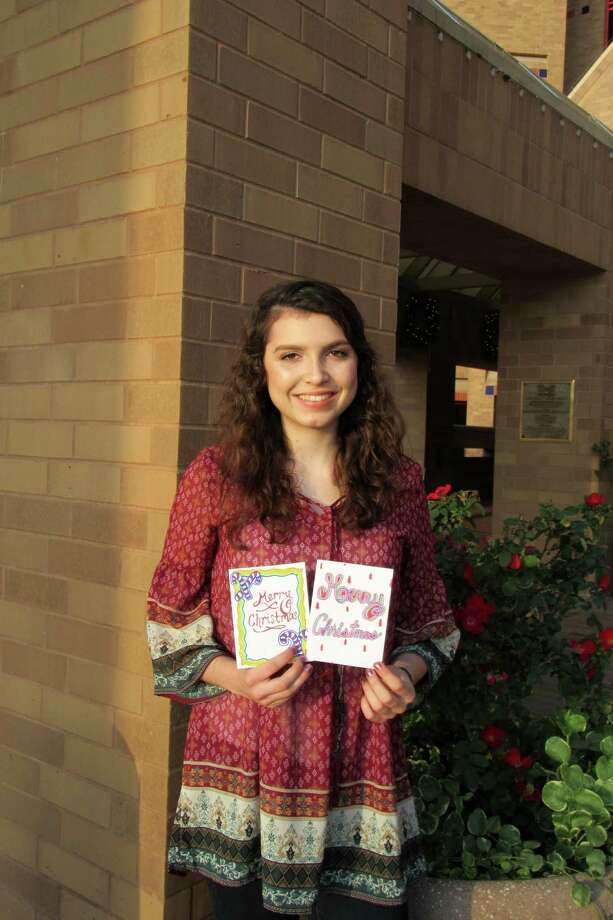 """Sharlee Krkosa, 17, of Schertz,was one of two area students selected as one of 90 semifinalists for 2017  Military Child of the Year, according to the San Antonio nonprofit Operation  Homefront. She recently sent """"cheer cards"""" to San Antonio residents atSan Antonio Army Medical Center and The Village at Incarnate Word. Photo: Courtesy Photo / Courtesy Photo"""