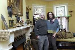 Loretta and Bob Kretchko live in a restored Victorian home on Aspetuck Avenue in New Milford. Photo Monday, January 9, 2017.