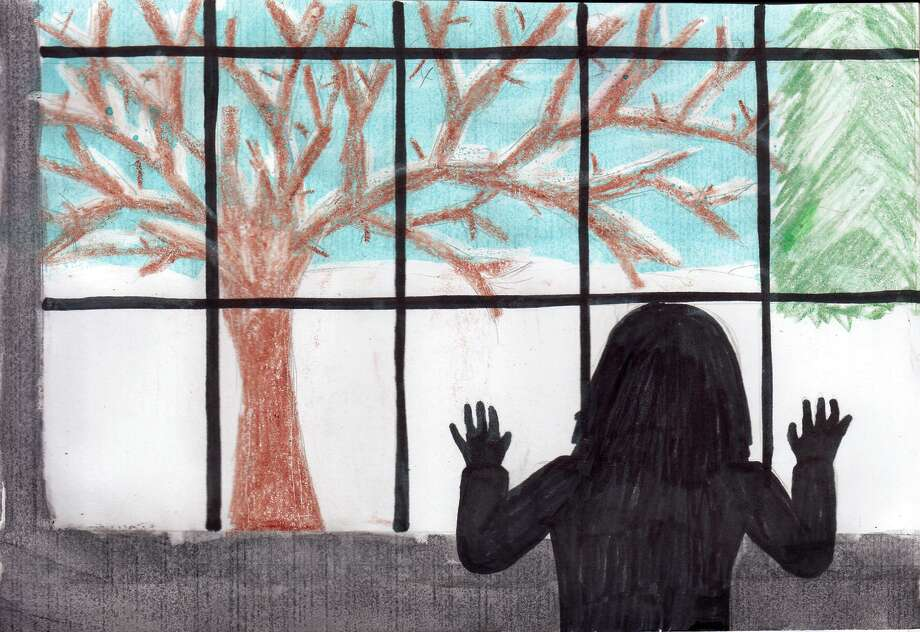 This artwork was made by Sadie Souva, 15, of Ubly Community Schools. Photo: Teacher Samantha Leslie
