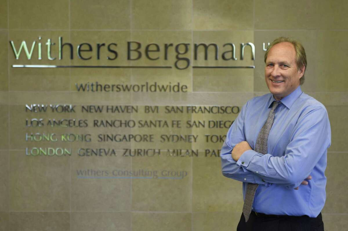 Withers Bergman Partner and Greenwich Office Managing Director David Lehn poses inside Withers Bergman's new Greenwich headquarters in the office park at 1700 East Putnam Ave. in Old Greenwich, Conn. Monday, May 9, 2016.
