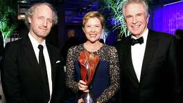 "Director Mike Mills joins ""20th Century Women"" star Annette Bening and her husband, Warren Beatty, at the Palm Springs International Film Festival, where she received a lifetime achievement award."