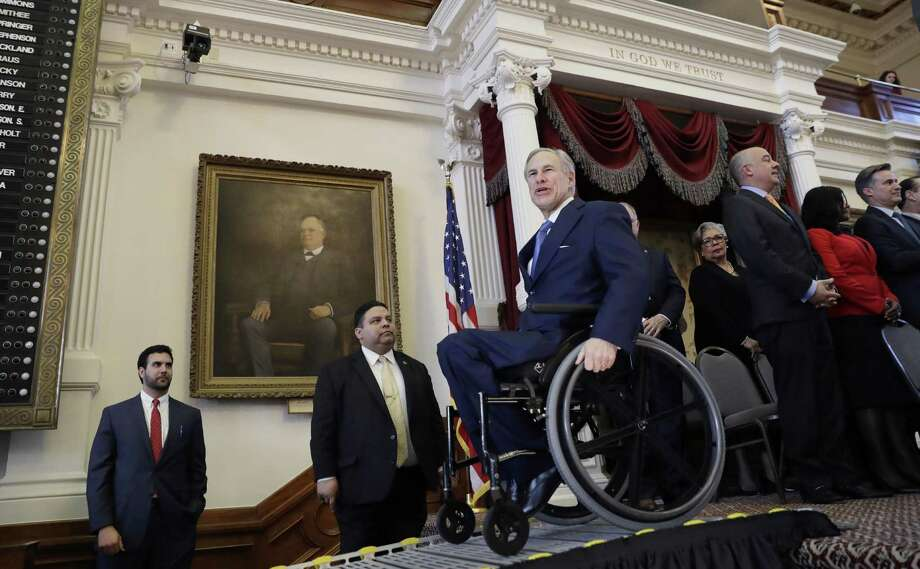 Gov. Greg Abbott had $34.4 million in campaign cash on hand as of last month, according to his campaign Photo: Eric Gay /Associated Press / Copyright 2017 The Associated Press. All rights reserved.