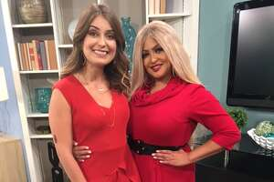 New 'Great Day' co-host Roma Villavicencio gets welcome from exiting host Bridget Smith.