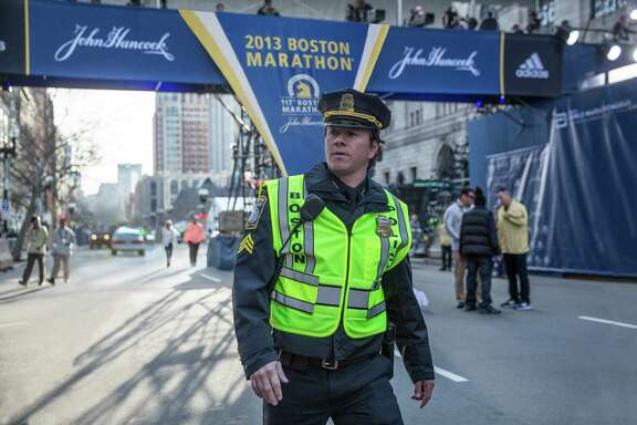 "Mark Wahlberg stars as Sgt. Tommy Saunders, a composite of several Boston officers, in  ""Patriots Day."""