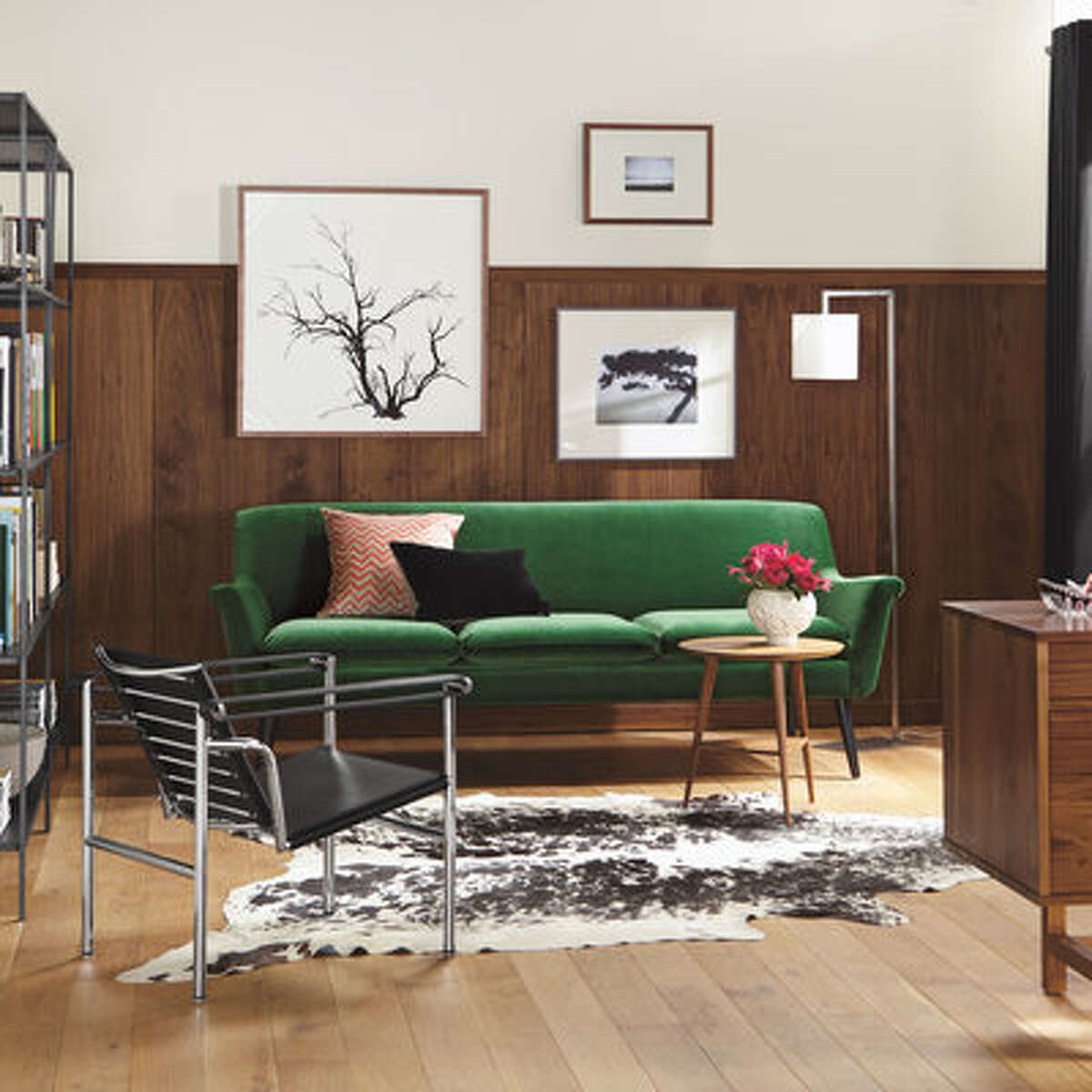 """Make home a gem Murphy sofa in Vance Emerald from Room and Board Seattle-based interior designer and shop keep Brian Paquette says the hunter green and merlot shades (probably) best known for their overuse in '80s-era Ralph Lauren ads are back. """"I am very much attracted to these tones in a new way, in luminous velvets and tone on tone,"""" he says. """"Think a hunter green sofa with hunter green grasscloth and hunter green carpet."""""""