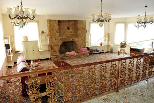 Interior views of an estate at 19 Old Dairy Road in Trumbull, Conn., on Wednesday Jan. 11, 2017. Magnificent estate of prominent local builder. This home has been custom built with tremendous attention to detail with all of the bells and whistles! It has hand painted Italian tile in kitchen and baths, teak inlay on interior doors, magnificent stone fireplaces, impressive 2-story foyer with bridge connecting bedrooms to art studio, in-ground pool, in-law apartment, large lot can be subdivided if wanted, lot abuts open space.