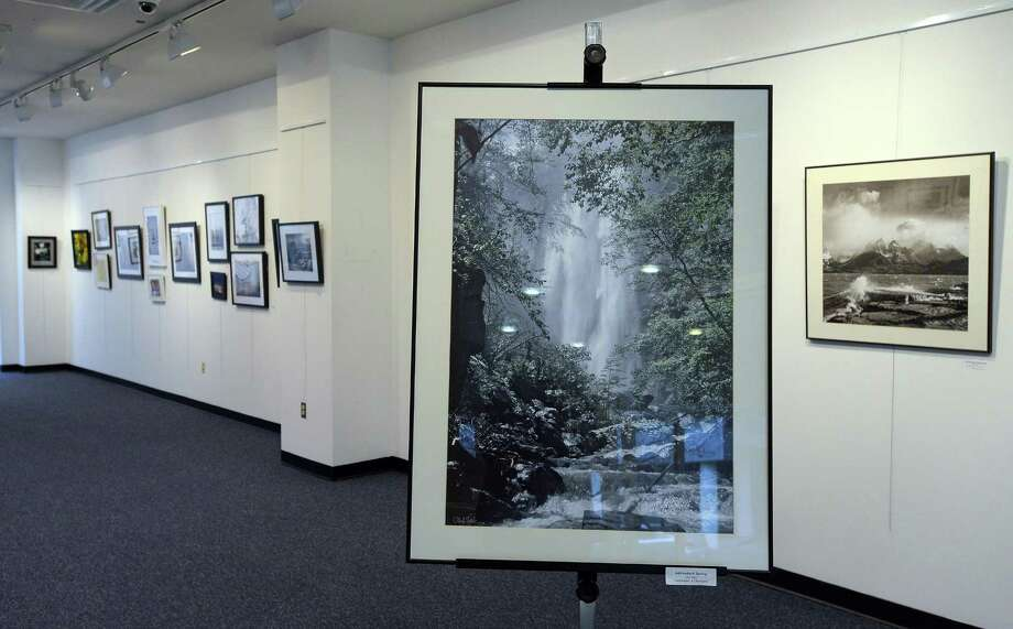 A picture of a waterfall, titled 'Adirondack Spring by Olaf Soot', photograph on Jan12, 2017, is one of 71 pieces of art in five different categories featured in the 9th Annual Juried Fine Art Photography Show at UConn Stamford Art Gallery.The exhibit runs from Jan. 12 to Feb. 16., show casing the works of 30 Amateur and professional photographers. Photo: Matthew Brown / Hearst Connecticut Media / Stamford Advocate