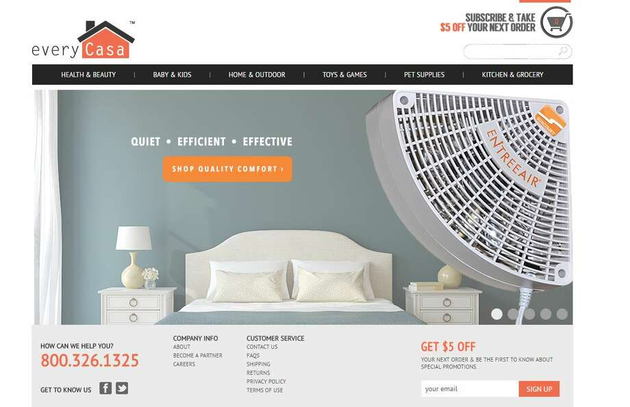 The EveryCasa web site is run by etailz, which Trans World acquired last October Photo: Rulison, Larry