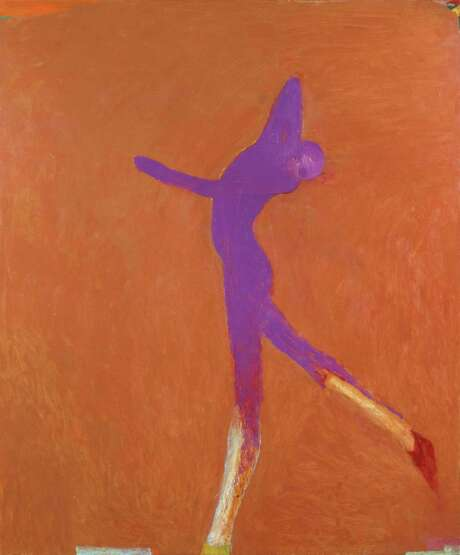 """Nathan Oliveira's """"Cobalt Dancer"""" (2001) is part of the inaugural show at the new space of the Berggruen Gallery. Photo: Copyright Estate Of Nathan Oliveira / Berggruen Gallery / SFC"""