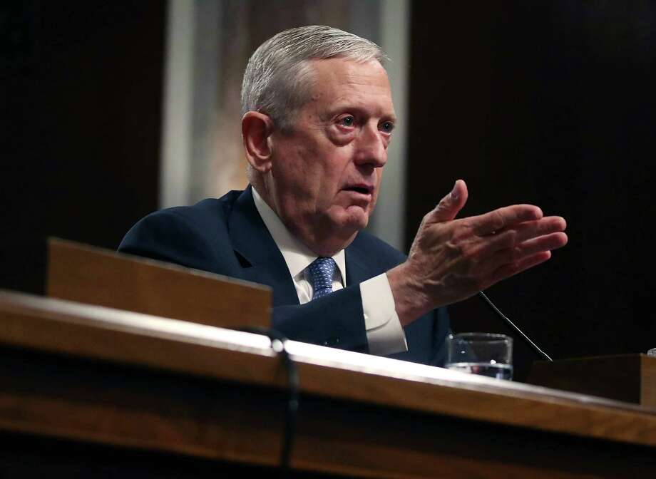 WASHINGTON, DC - JANUARY 12:  Defense Secretary nominee, retired Marine Corps Gen. James Mattis speaks during his Senate Armed Services Committee confirmation hearing on Capitol Hill, on January 12, 2017 in Washington, DC. Gen. Mattis will need a waiver from Congress to bypass a law prohibiting recently retired military officers from serving as Defense secretary.  (Photo by Mark Wilson/Getty Images) ORG XMIT: 692466897 Photo: Mark Wilson / 2017 Getty Images