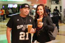 Spurs fan were all smiles Thursday night at the AT&T Center as they watched the home team defeat the rival Los Angeles Lakers by 40 points.