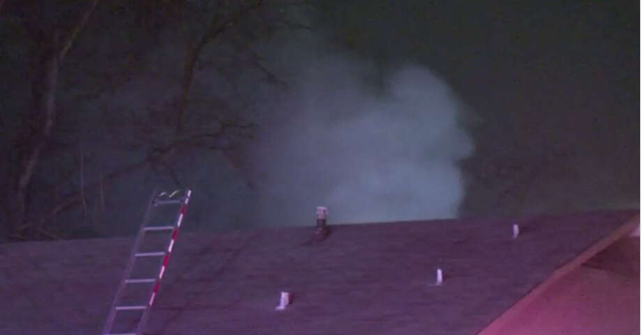A fire burned a home about 11:40 p.m. Thursday, Jan. 12, 2017, in the 1300 block of Tarberry near DePriest in northwest Houston. (Metro Video)