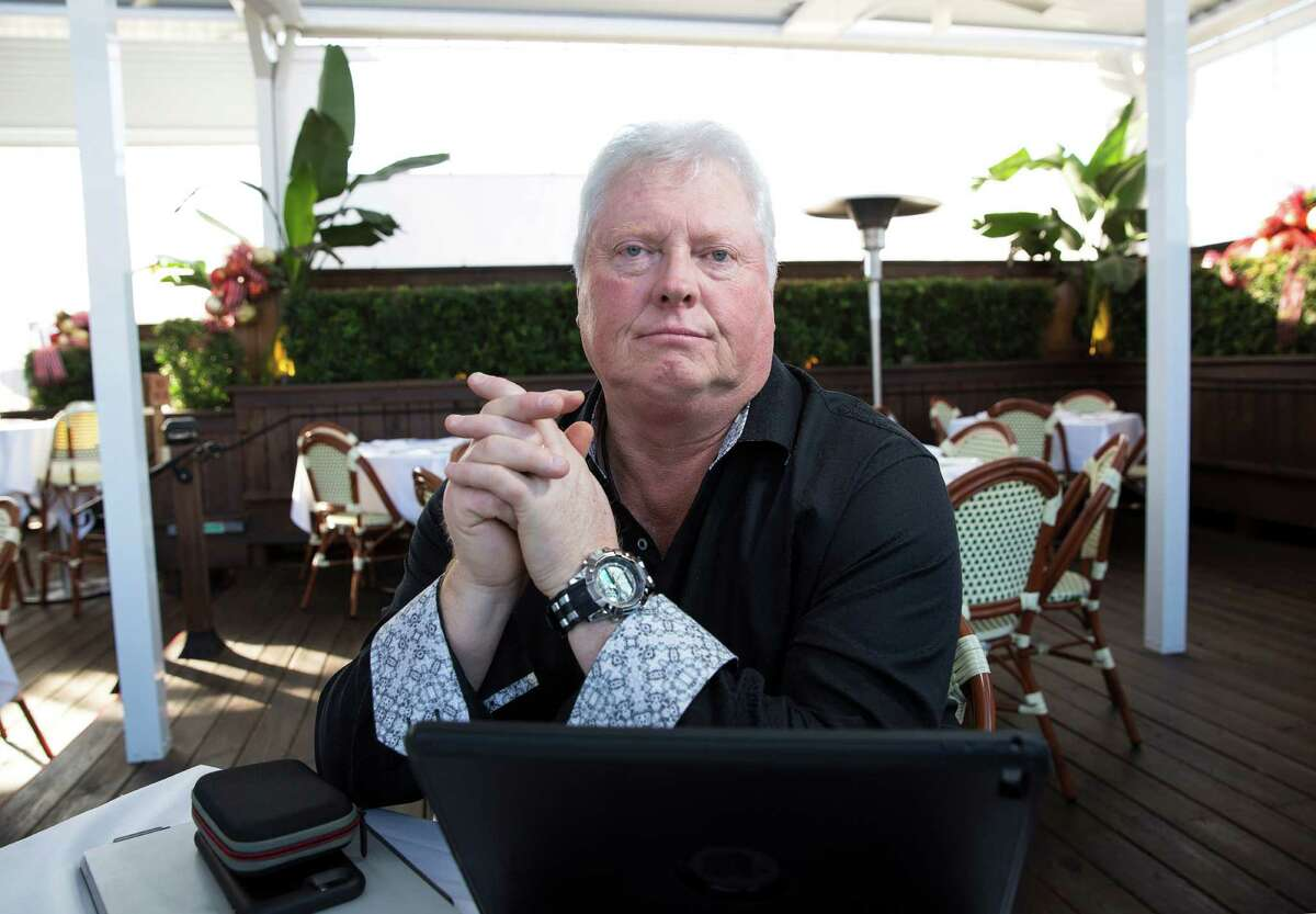 Former Black Elk CEO John Hoffman poses for a portrait with his electronic devices, where he keeps information of the Black Elk case, at B&B Butchers & Restaurant Wednesday, Dec. 21, 2016, in Houston. Hoffman said he was forced to resign from from the company in August 2014. ( Yi-Chin Lee / Houston Chronicle )