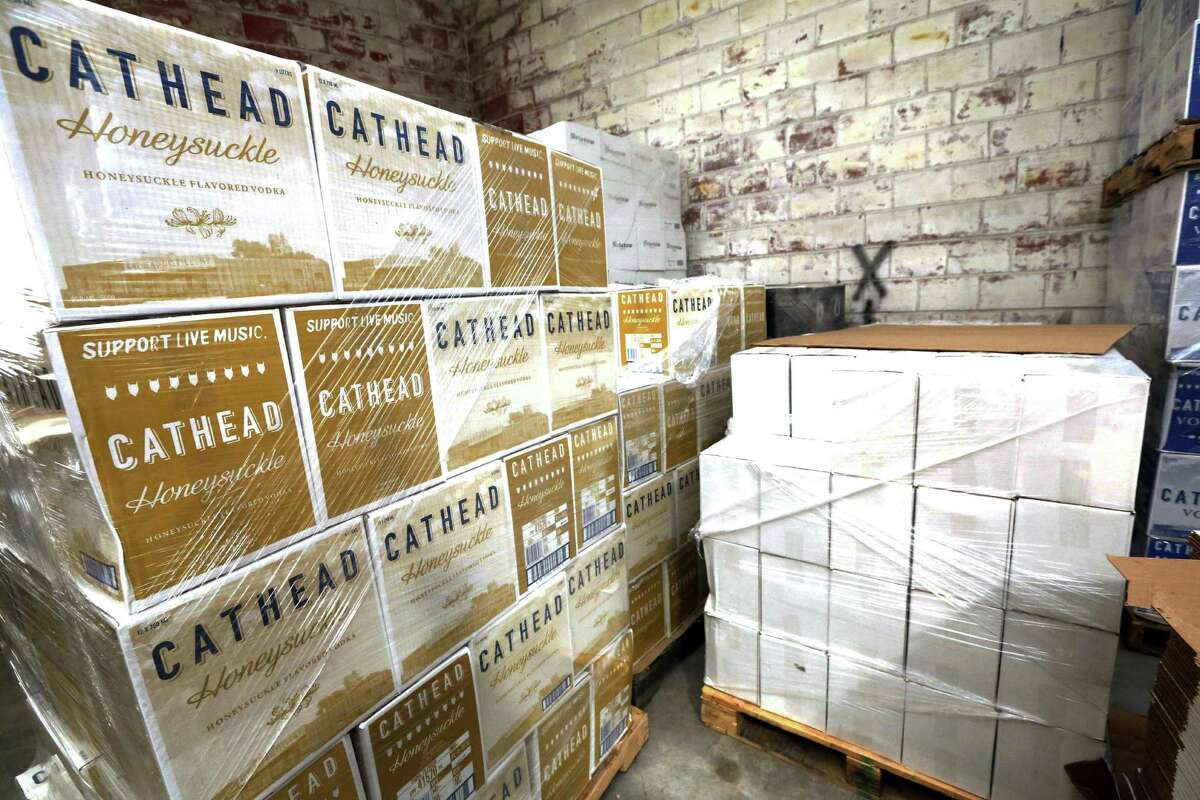 A pallet of honeysuckle-flavored vodka is ready for shipping out of the Cathead Distillery in Jackson, Miss. The producer price index, which measures price changes before they reach consumers, increased 1.6 percent last year, the Labor Department said Friday. That's the biggest 12-month gain since September 2014. Still, it is low historically and suggests inflation is largely in check.