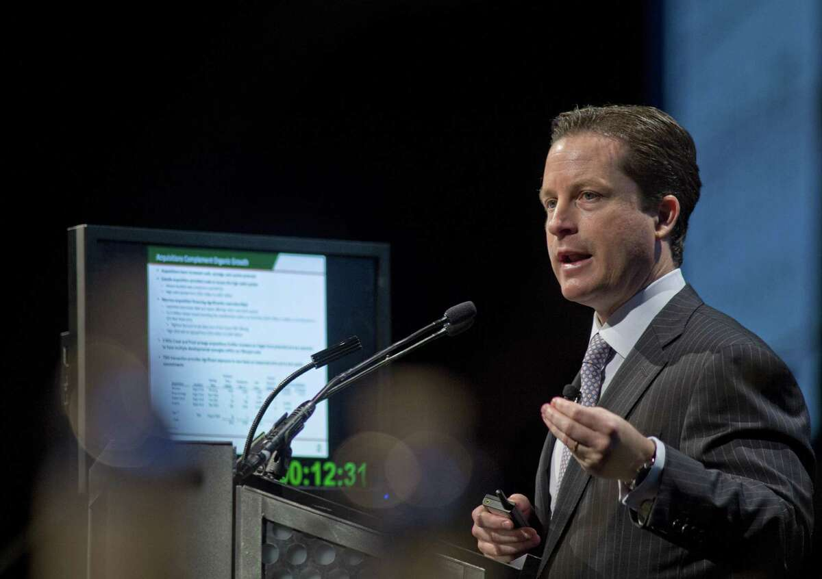 Tony Sanchez, CEO for Sanchez Energy Corp., is shown speaking at the 2013 Hart Energy DUG Eagle Ford conference in San Antonio. Sanchez said late Wednesday it would buy Anadarko's acreage on the western edge of the Eagle Ford.