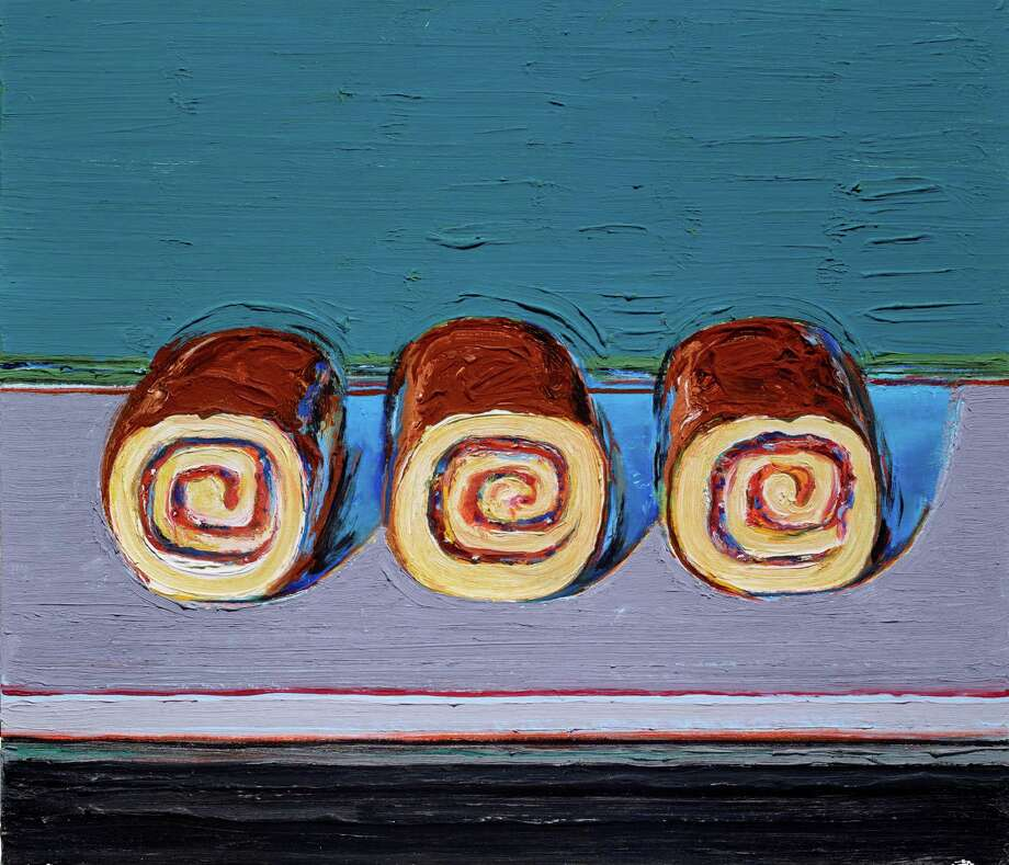 "Wayne Thiebaud's ""Jelly Rolls (for Morton)"", an oil painting from 2008, is among works on view in ""Two Centuries of American Still-Life Painting: The Frank and Michelle Hevrdejs Collection"" at the Museum of Fine Arts, Houston,  Jan. 14-April 9. The couple have donated the works to the MFAH. Photo: The Frank And Michelle Hevrdejs Collection"