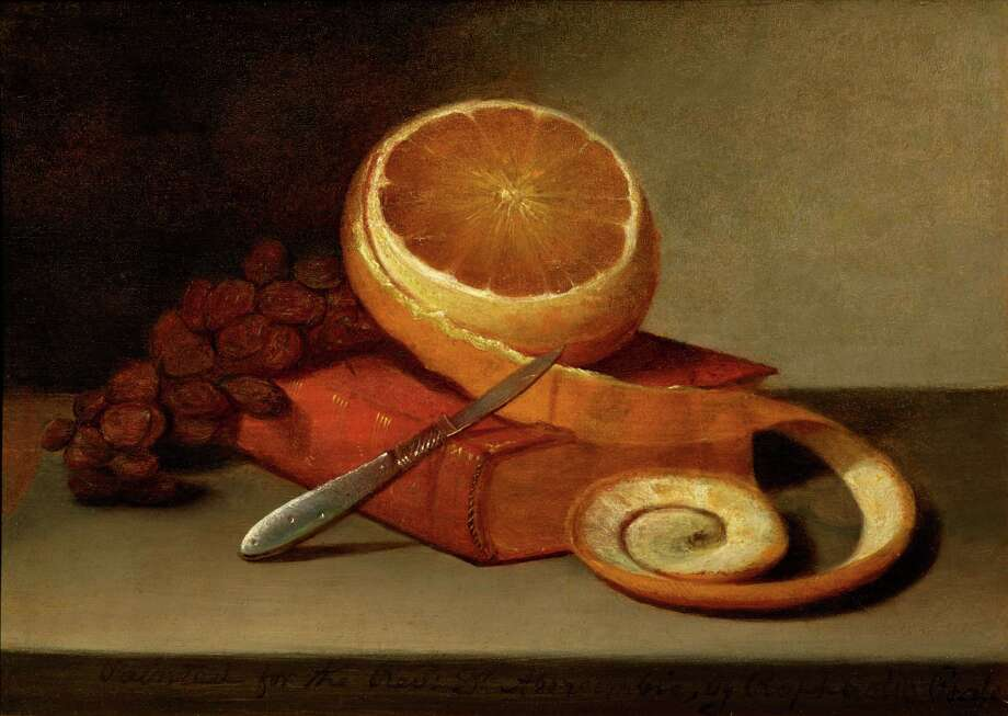"Raphaelle Peale, ""Orange and Book,"" c. 1817, oil on canvas, epitomizes early still-life works. Photo: The Frank And Michelle Hevrdejs Collection"