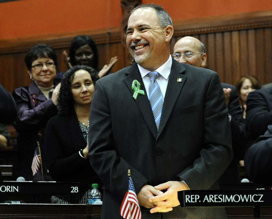Connecticut House Majority Leader Joe Aresimowicz, D-Berlin and shown above, and House Majority Leader Matt Ritter, D-Hartford, have introduced a 10-point legislative program for more jobs and economic growth. Photo: Jessica Hill / AP Photo /Jessica Hil / Associated Press (AP Photo/Jessica Hill)