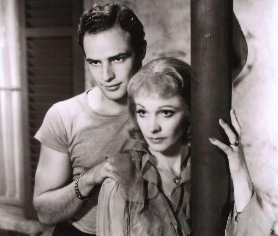 "Marlon Brando and Vivien Leigh in ""A Streetcar Named Desire."" Photo: Contributed Photo"