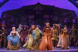 "A scene from ""Something Rotten!"""