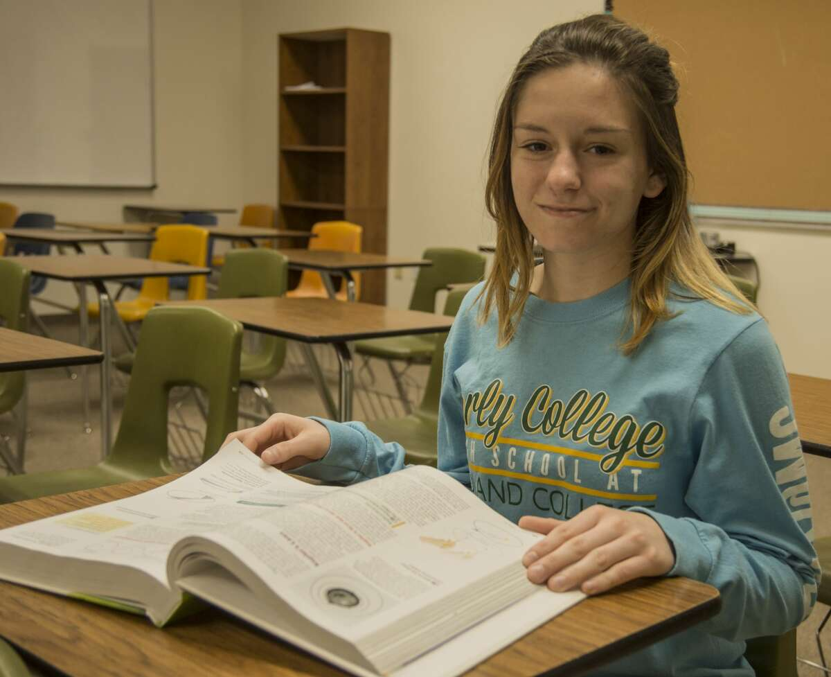 Hanna Walker, senior at Early College High School at Midland College, plans to continue her education to become a math teacher. Thursday 01-12-17 Tim Fischer/Reporter-Telegram