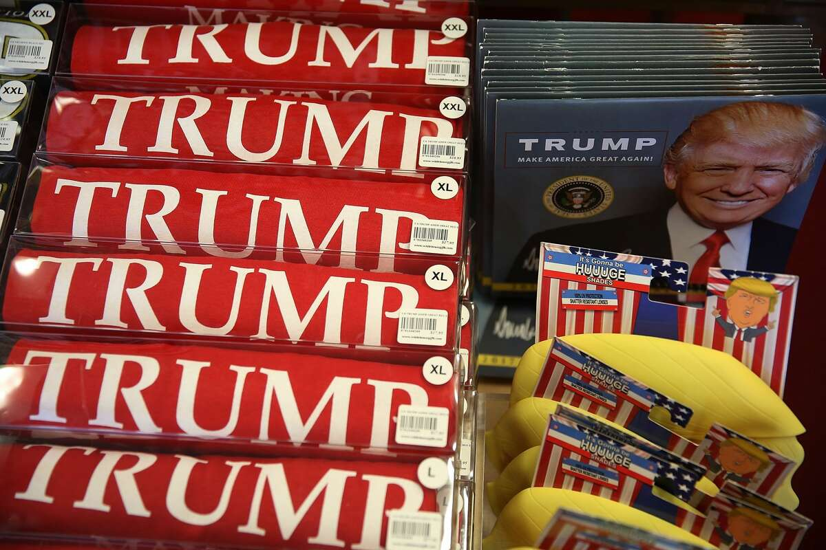 Trump paraphernalia are seen for sale on the store shelves of White House Gifts as President elect Donald Trump prepares to take the reins of power next week on January 13, 2017 in Washington, DC. The inauguration will take place on January 20th when President Barack Obama ends his 8 year run as Americas president. (Photo by Joe Raedle/Getty Images)