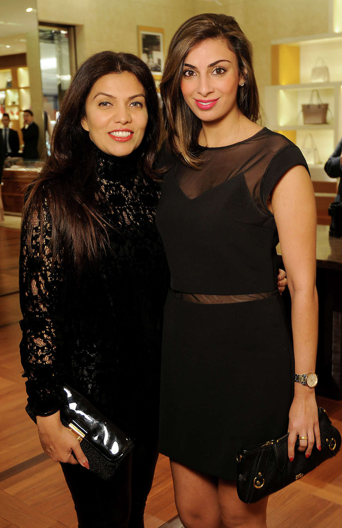 Mona Khan and Sukaina Rajani at the UNICEF event at the Louis Vuitton store in the Galleria Thursday Jan. 12, 2017.(Dave Rossman photo)
