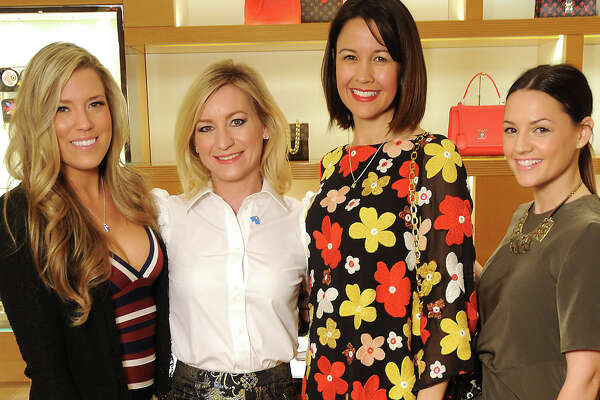 From left: Holly Alvis, Emily Paull, Carrie Colbert and Caroline Knapp at the UNICEF event at the Louis Vuitton store in the Galleria Thursday Jan. 12, 2017.(Dave Rossman photo)