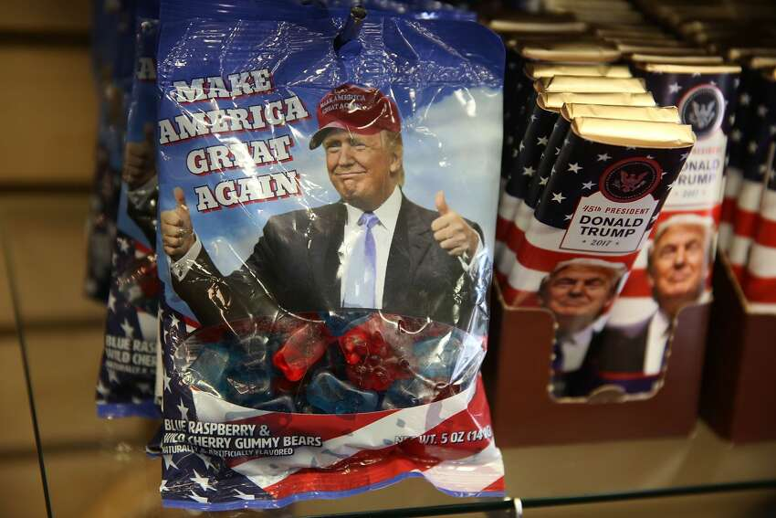 Donald Trump gummy bears are seen for sale on the store shelf of White House Gifts as President elect Donald Trump prepares to take the reins of power next week on January 13, 2017 in Washington, DC. The inauguration will take place on January 20th when President Barack Obama ends his 8 year run as Americas president. (Photo by Joe Raedle/Getty Images)
