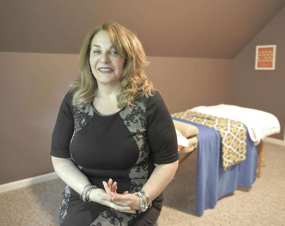 Angela D'Amico, owner of Compassionate Care Center of Connecticut in Bethel, Conn. Photo: H John Voorhees III / Hearst Connecticut Media / The News-Times