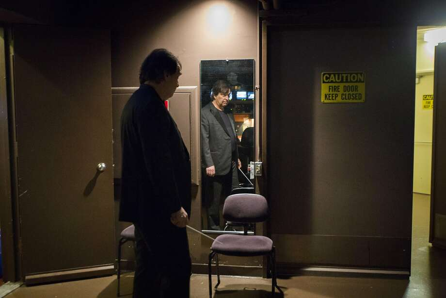 """David Newman, part of one of Hollywood's preeminent musical families, waits backstage to conduct """"On the Waterfront."""" Photo: Eric Kayne, Special To The Chronicle"""