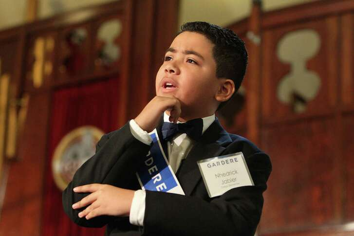 Crespo Elementary School student Nhedrick Jabier, the winner of The 21st Gardere MLK Jr., Oratory Competition deliver his speech Friday, Jan. 13, 2017, in Houston. Twelve Houston ISD elementary students will spread the work and teachings of Dr. Martin Luther King Jr. by performing self-written speeches inspired by the civil rights leader as part of the annual Martin Luther King Jr. Oratory Competition.