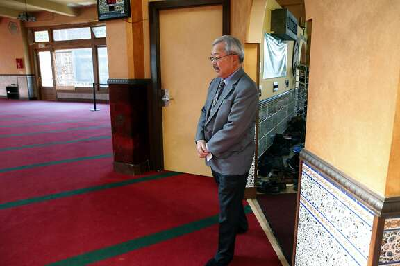Mayor Ed Lee arrives for an event at the Islamic Society of San Francisco in San Francisco, Calif. on Friday, Jan. 13, 2017. The mayor is reversing his position on a safe injection site is now in favor of it.