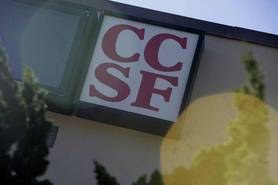 Signage for  City College of San Francisco is seen on Smith Hall at the City College of San Francisco Ocean Campus on Monday, November 16,  2015 in San Francisco, Calif. Photo: Lea Suzuki / The Chronicle / ONLINE_YES