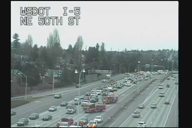 State troopers and Seattle Fire Department medics found a 32-year-old driver stopped on Interstate 5 in Seattle, reportedly overdosed on heroin with a needle sticking out of his arm. Medics rushed him to the hospital. He will be investigated for DUI.