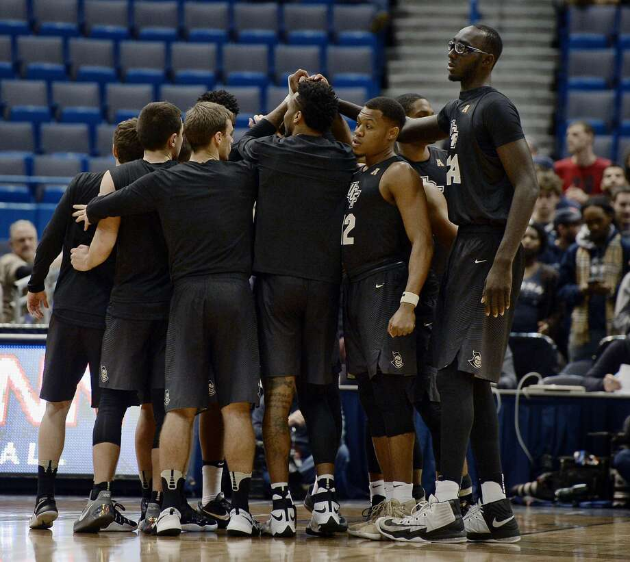 UH will have to contend with UCF's 7-6 sophomore center Tacko Fall. Photo: Jessica Hill/Associated Press