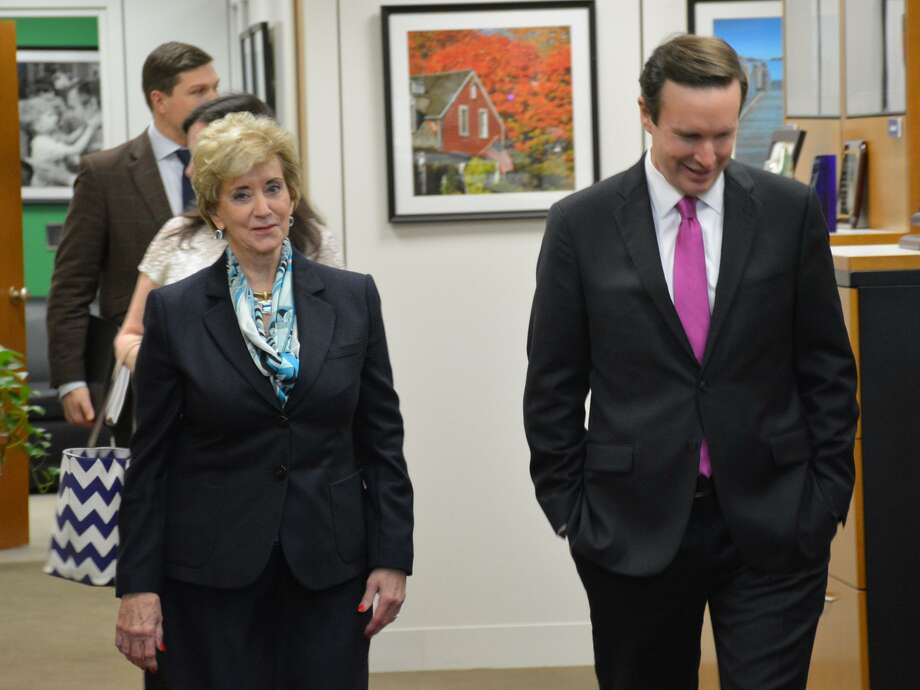 Linda McMahon, nominee for Small Business Administrator, met with Sen. Chris Murphy in Washington DC on Thursday. Photo: Contributed Photo / Contributed Photo / Connecticut Post Contributed