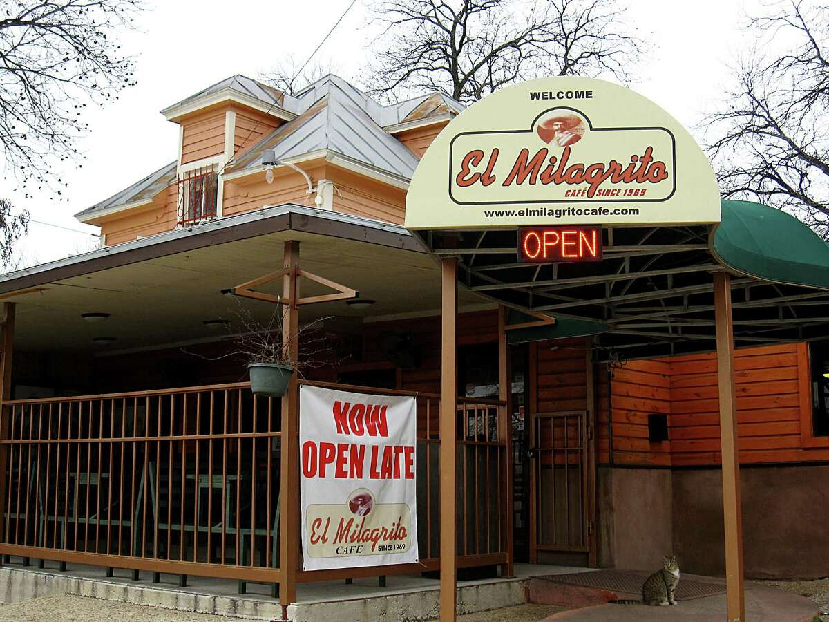 El Milagrito Mexican Restaurant: 521 Woodlawn Ave., San Antonio, TX 78212 Date: 10/13/2017 Score: 74 Highlights: Food not protected from cross-contamination (vegetables, ready-to-eat foods, eggs); dirty mop heads seen stored in dirty mop water; prepared foods must be labeled with expiration date; accurate thermometers not seen in coolers; bulk foods must be labeled properly; inspector observed condensation leaks inside walk-in cooler - has potential to drip onto stored food products