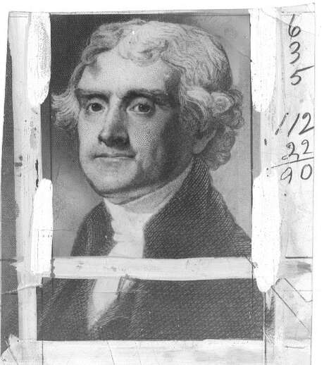 JEFFERSON/B/11SEP98/MN/ = THOMAS JEFFERSON, ONE OF THE US FOUNDING FATHERS. US PRESIDENT.  (FILE PHOTO) Photo: HANDOUT/FILE PHOTO