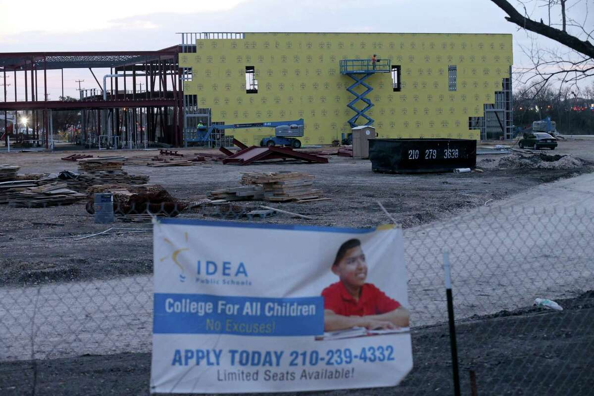 A view of IDEA Brackenridge, a charter school under construction in 2017 down the street from Shepard Middle School in South San ISD. Competition from charter schools is affecting every school district in Bexar County.