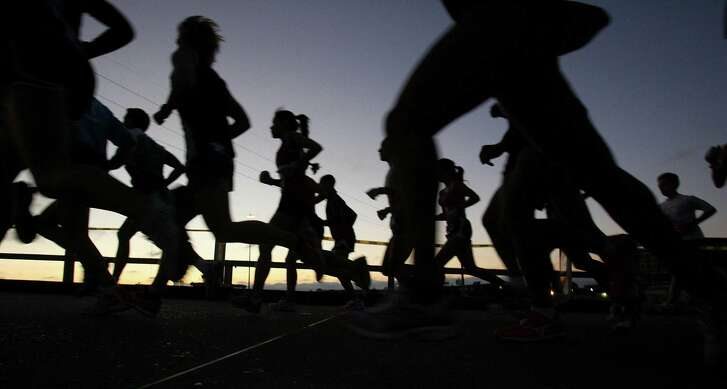 Warm, muggy weather conditions will be less than ideal for Sunday's Chevron Houston Marathon, but that's the hand Mother Nature has dealt runners in this year's event.    Photo by Mayra Beltran