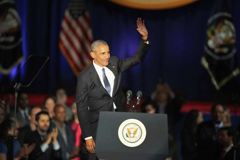 President Barack Obama delivers a farewell speech to the nation last week in Chicago. Photo: Scott Olson, Staff / 2017 Getty Images